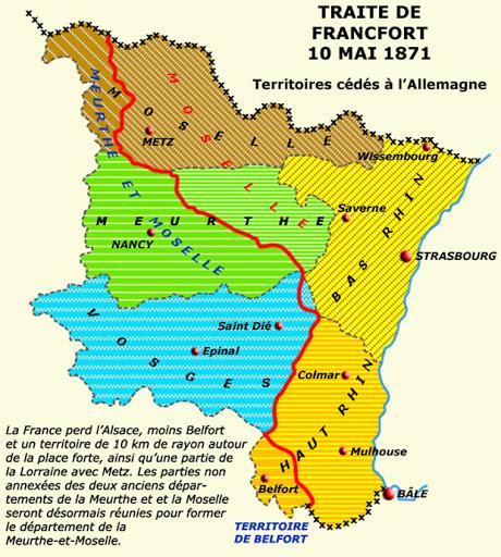 La perte de l' « Alsace-Lorraine »